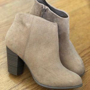 Sueded Block-Heel Booties for Women